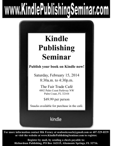 Kindle Publishing Seminar