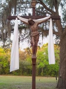 2013 Easter Vigil Prayer Garden St Ambrose